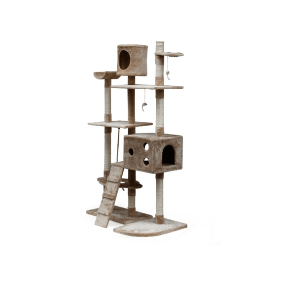 BINGO 173CM Cat Tree House – CREAM