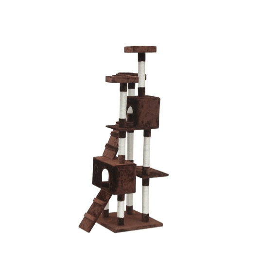 BINGO Cat Tree House 185cm 7 Levels – COFFEE