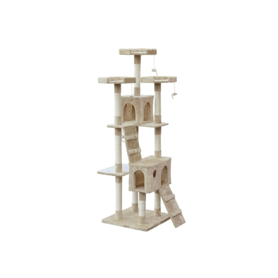 BINGO Cat Tree House 185cm 7 Levels – BEIGE