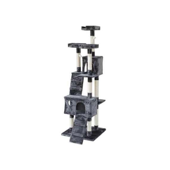 BINGO Cat Tree House 185cm 7 Levels – GREY